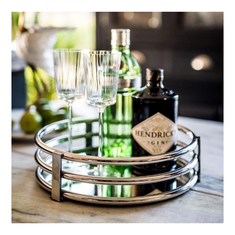 Culinary Concepts Circular Gatsby Mirror Tray