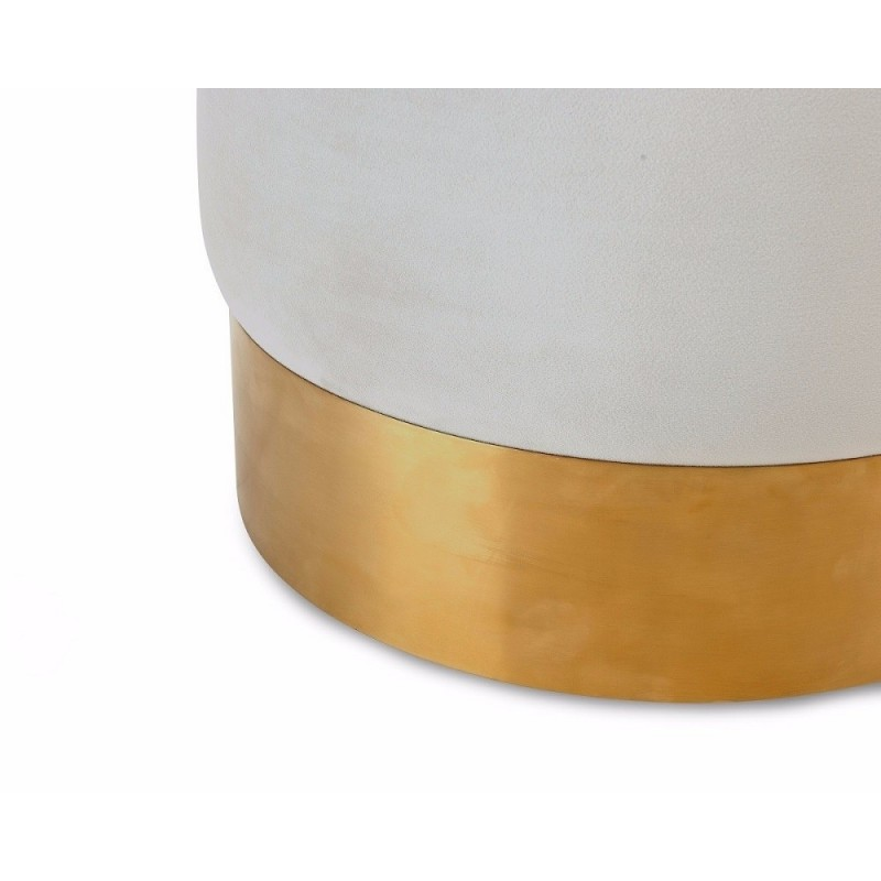 Liang & Eimil Calvin Stool | Pebble Velvet | Brushed Brass