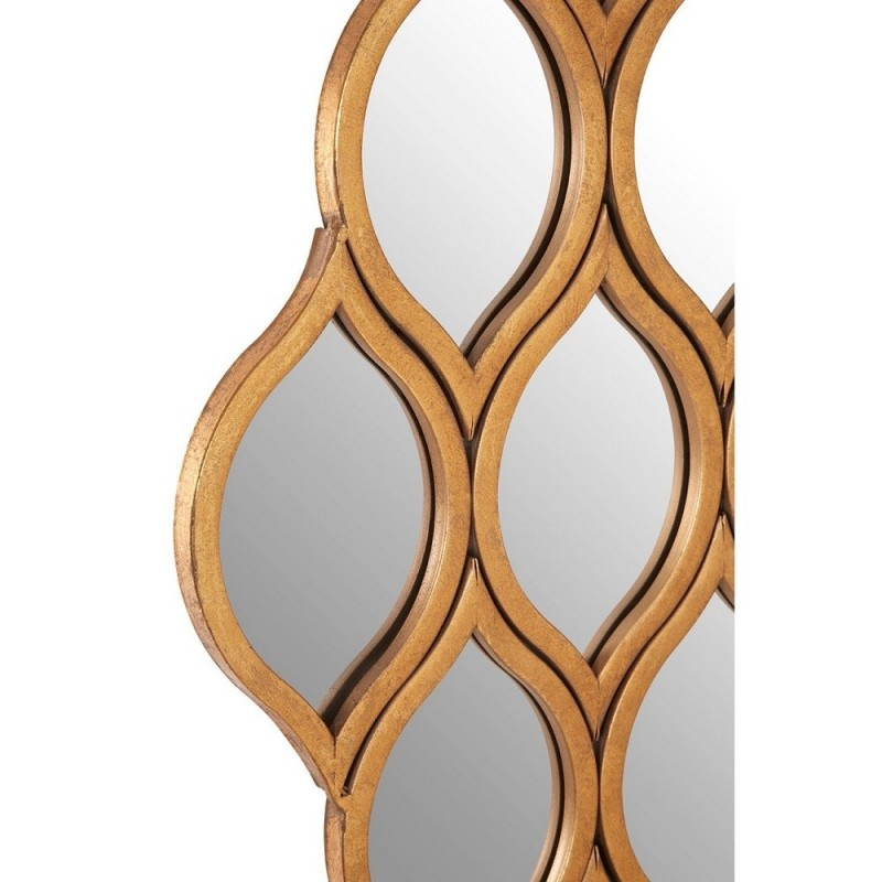 Multi Diamond Shape Wall Mirror | Gold