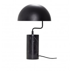 Hubsch Table lamp in black metal and marble base