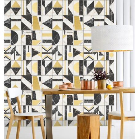 Mind The Gap Soho Brass Wallpaper