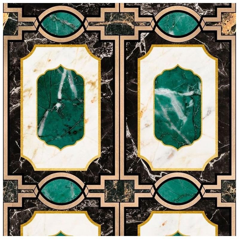 Mind The Gap Waldorf Emerald Wallpaper