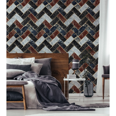 Mind The Gap Herringbone Wallpaper