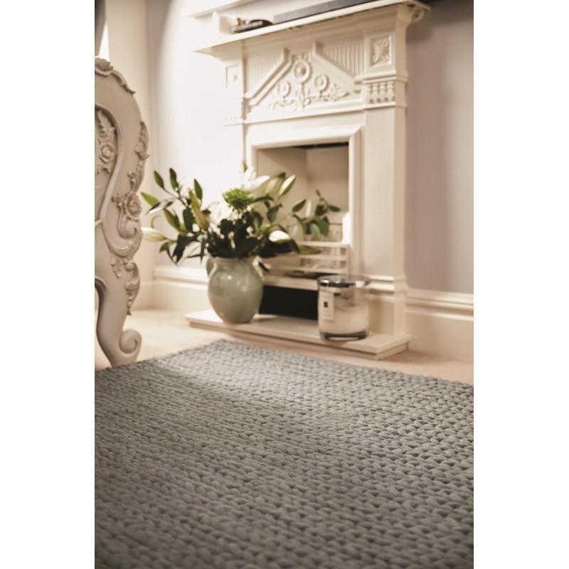 Fusion Hand Woven Wool Rug |Dove Grey