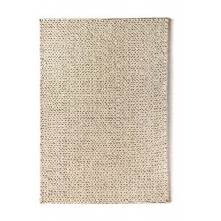 Fusion Han Woven Wool Rug | Ivory