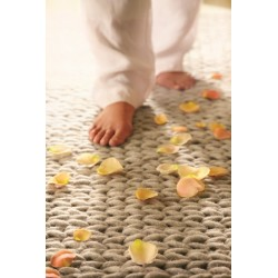 Fusion Hand Woven Wool Rug   Oyster