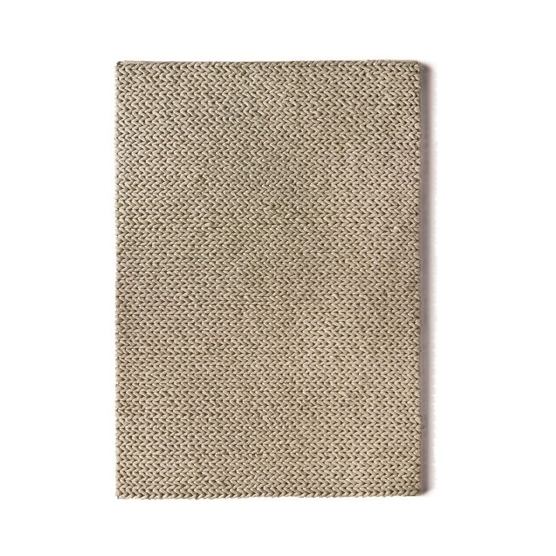 Fusion Hand Woven Wool Rug | Oyster
