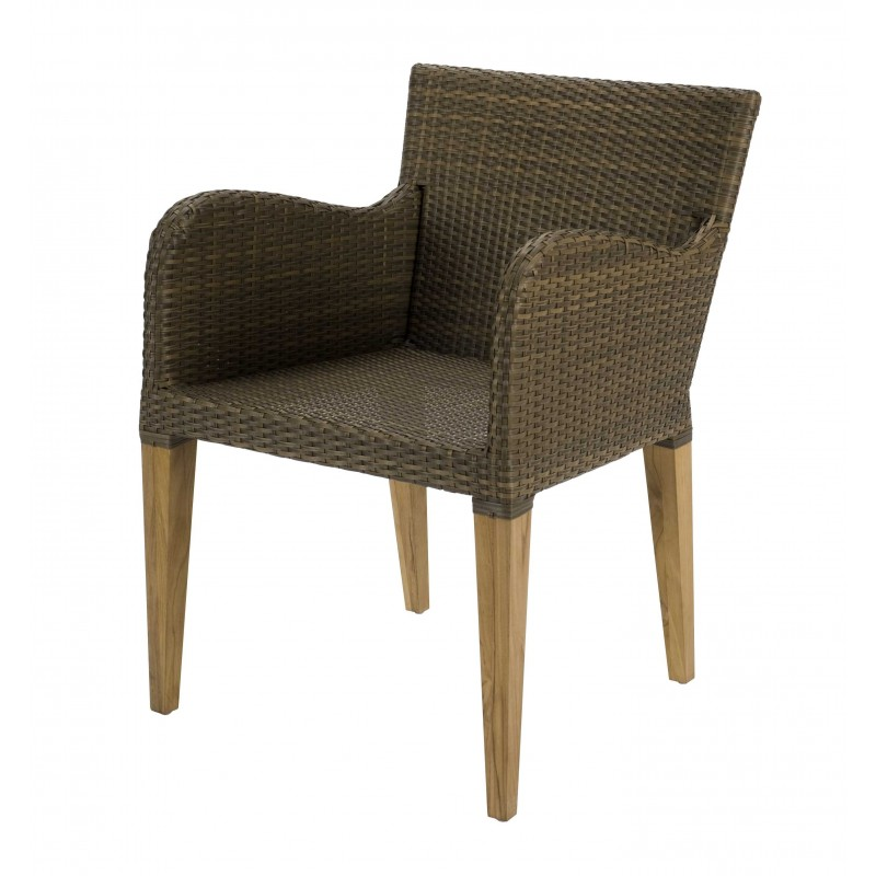 Tenby Black Rattan Chair