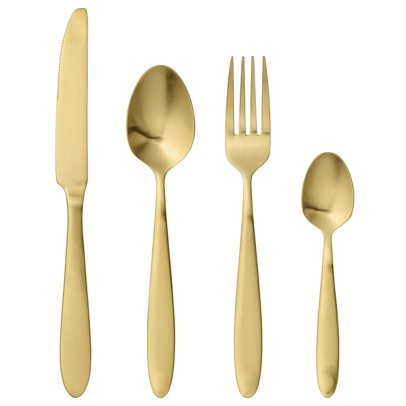 Bloomingville Gold Cutlery Set of 4 |Stainless Steel