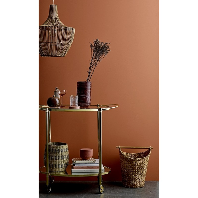 Bloomingville Fine Bar Table in Glass and Gold Metal
