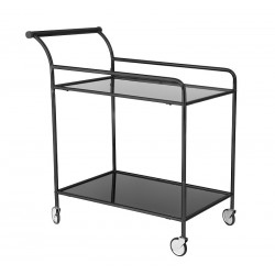 Bloomingville Fine Bar Trolley Table in Black Metal