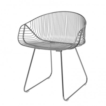 Bloomingville River Lounge Chair in Grey Metal