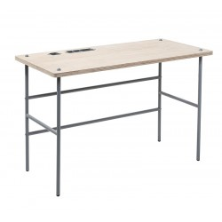 Bloomingville Study Desk in Natural Wood and Grey Metal