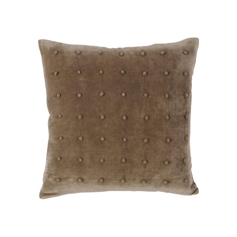 Dec Promo - Mocha Pompom Cushion 45x45cm