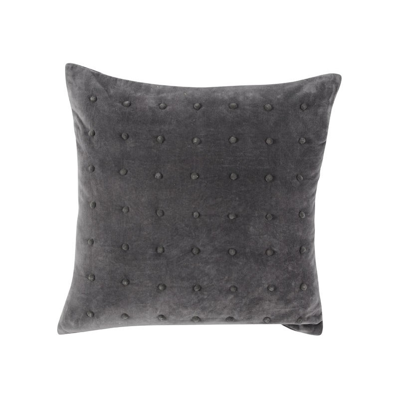 Dec Promo - Soft Grey Pompom Cushion 45x45cm
