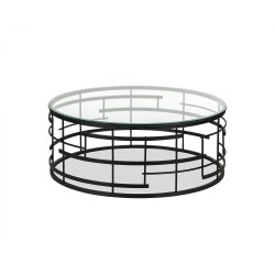 Liang & Eimil Viena Coffee Table|Glass Top Dark Frame