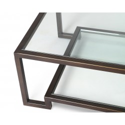 Liang & Eimil Ming Coffee Table|Glass Top and Shelf
