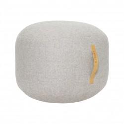 Hubsch Pouf In Herringbone Wool | Grey