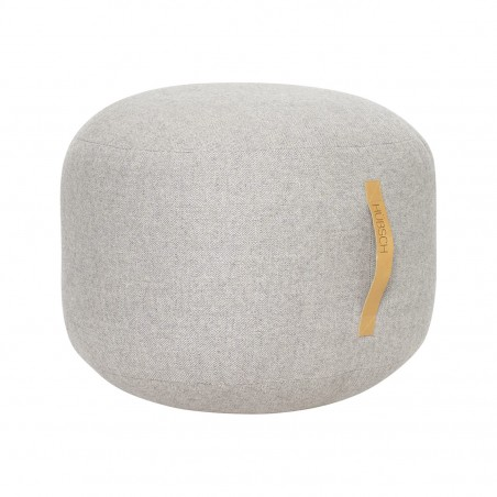 Hubsch Pouf In Herringbone Wool | Grey