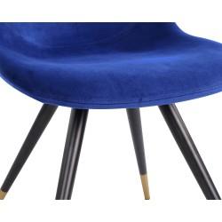 Liang & Eimil Orson Dining Chair Kaster Velvet Steel Legs