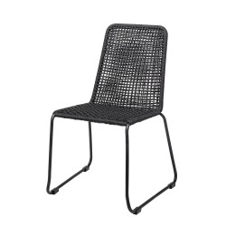 Bloomingville Mundo Outdoor Dining Chair Black