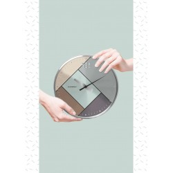 Cloudnola Rubik Silver Wall Clock