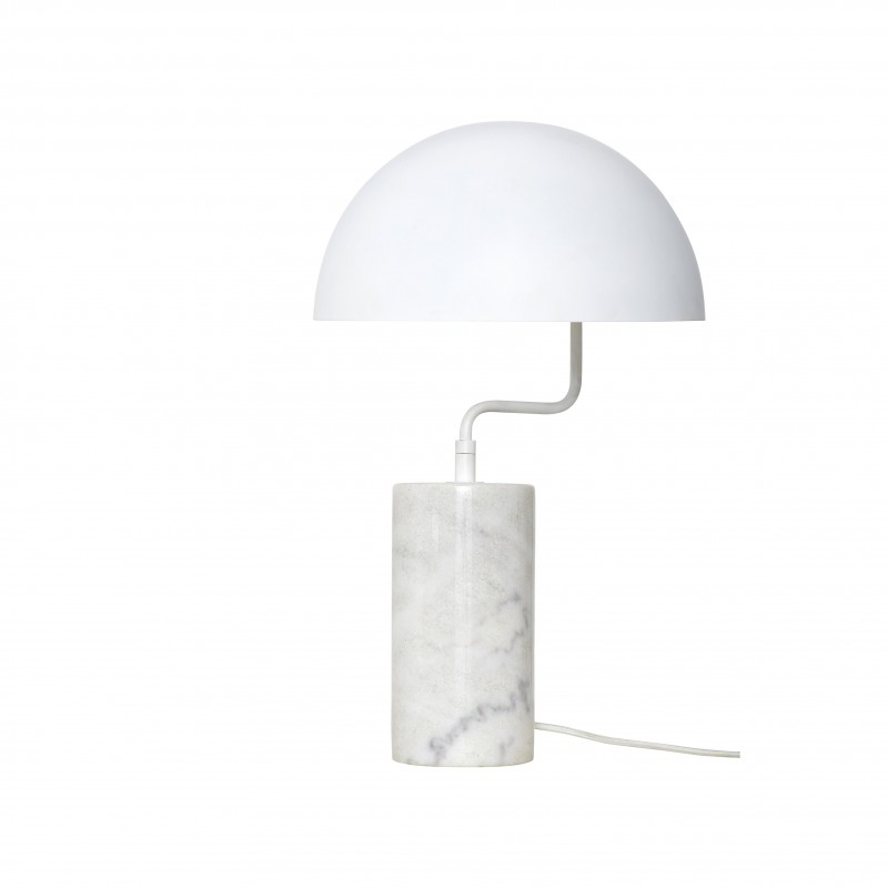 Hubsch Table Lamp in white metal and Marble Base