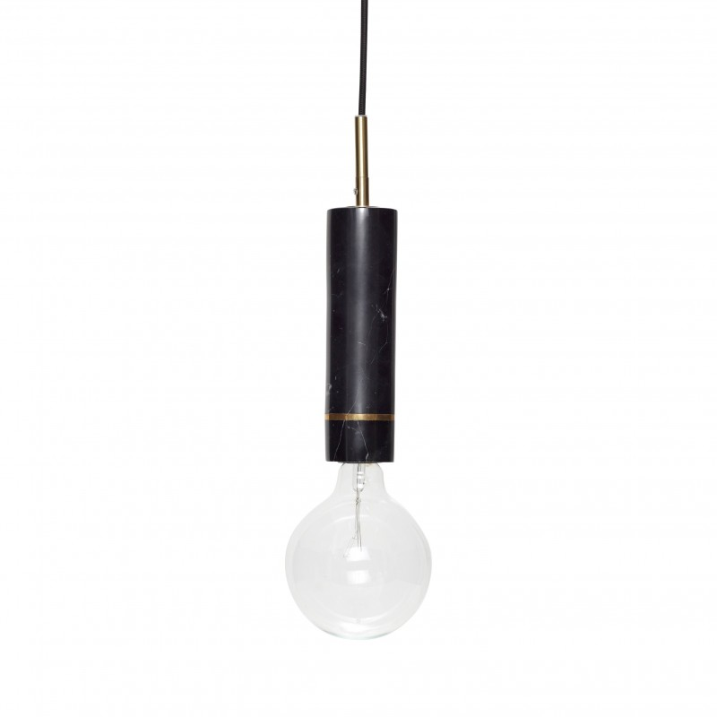 Hubsch Pendant Lamp in Black Marble