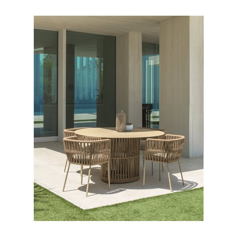 Talenti Cliff Outdoor Dining Table Round