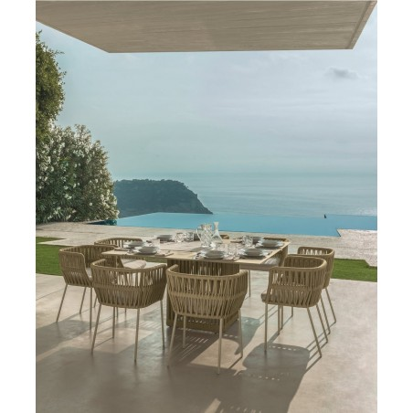 Talenti Cliff Square Outdoor Dining Table