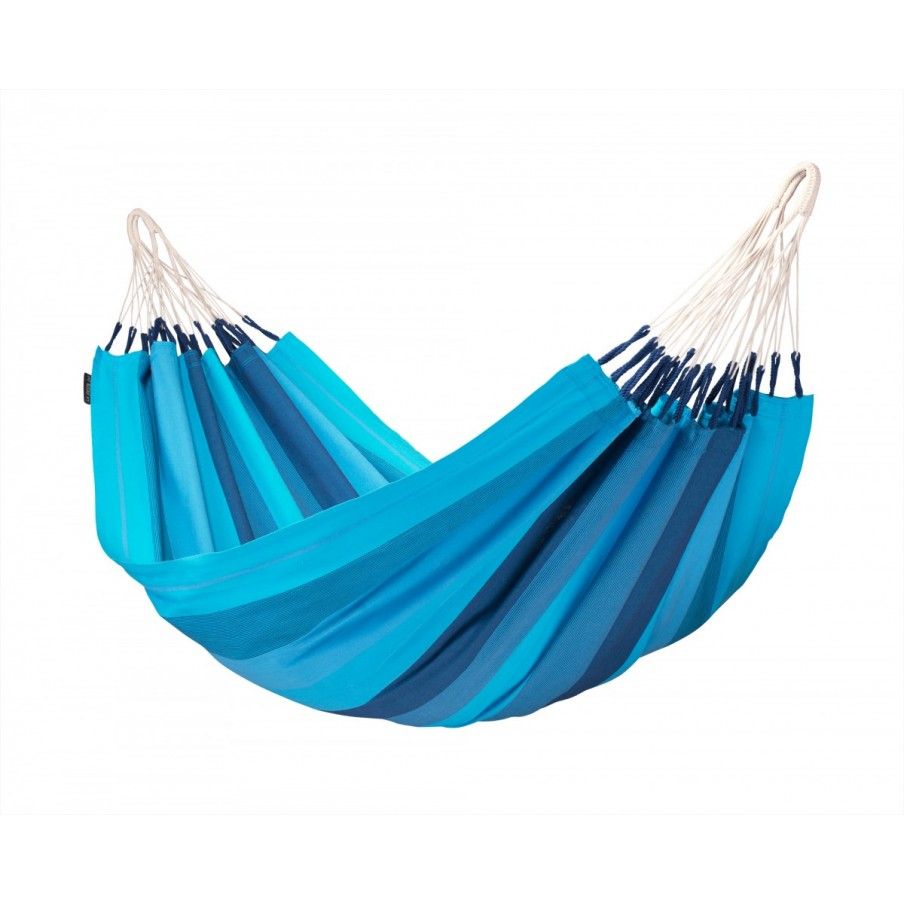 La Siesta Orquidea Pure Cotton Single Hammock - Lagoon
