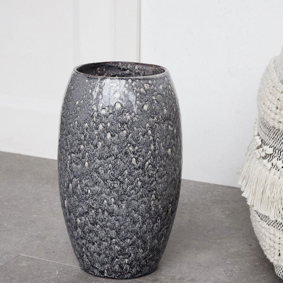 House Doctor Plain Vase Grey Blue