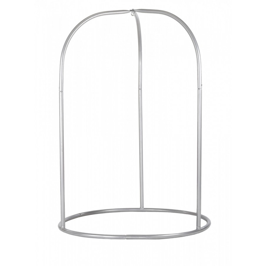 Steel Stand for Basic or Lounger Hammock Chairs - Romano Silver