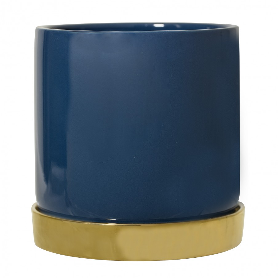 Bloomingville Blue Stoneware Flowerpot