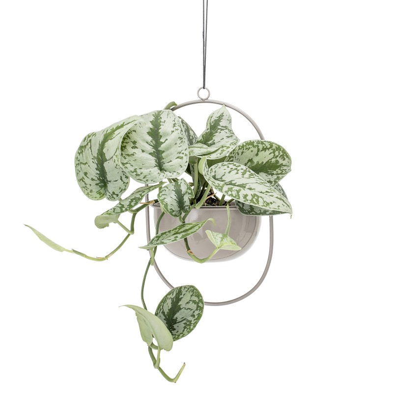 Bloomingville Grey Metal Hanging Flowerpot