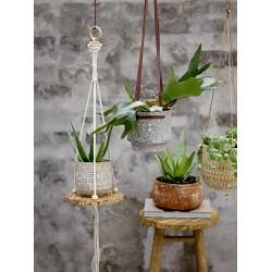 Bloomingville Deco Concrete Hanging Flowerpot