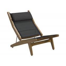 Gloster Bay Reclining Chair|Buffed Teak|Seagull|Granite