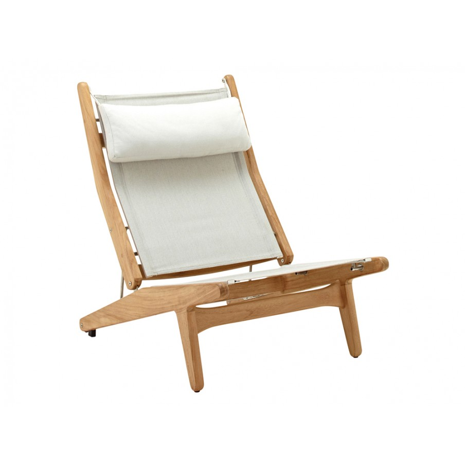 Gloster Bay Reclining Chair|Buffed Teak|Seagull|Granite