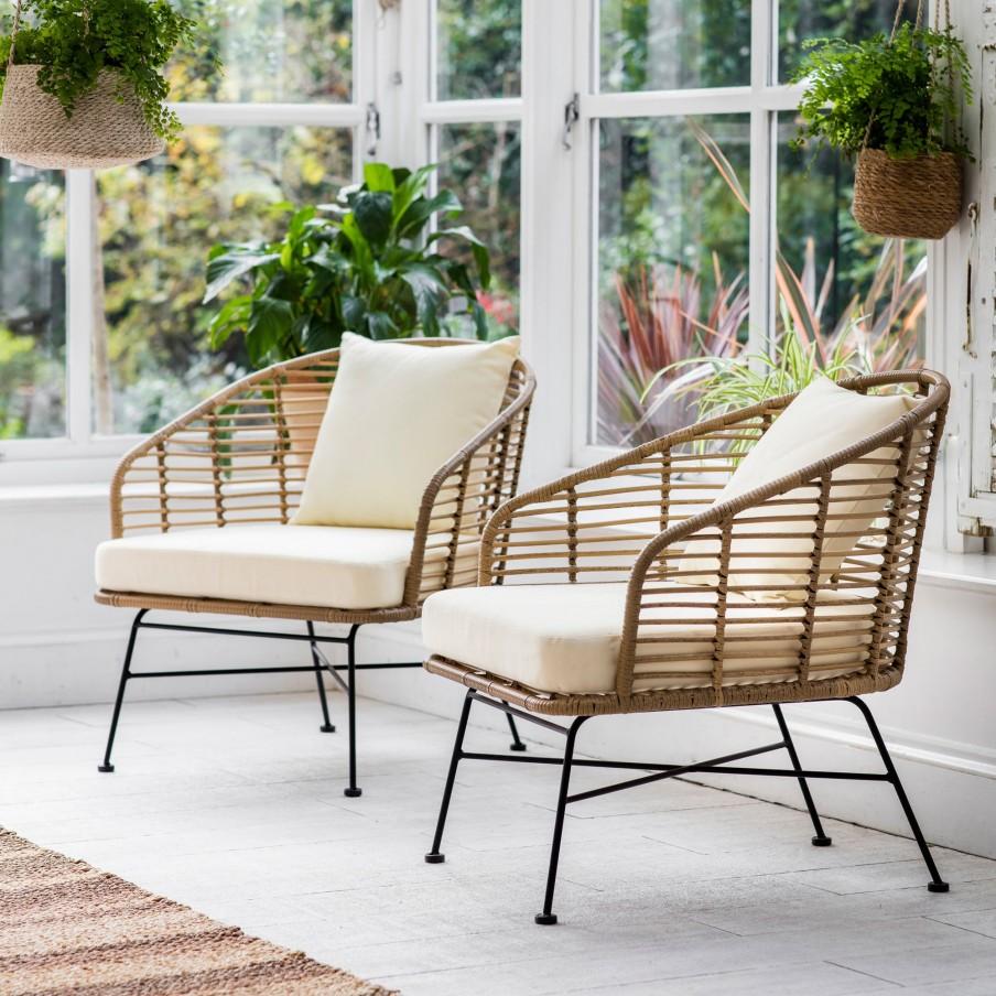Garden Trading Set Of 2 Hampstead Armchairs