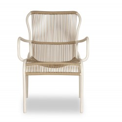 Vincent Sheppard Loop Lounge Chair Beige White Stone
