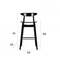 Vincent Sheppard Teo Counter Stool in Black