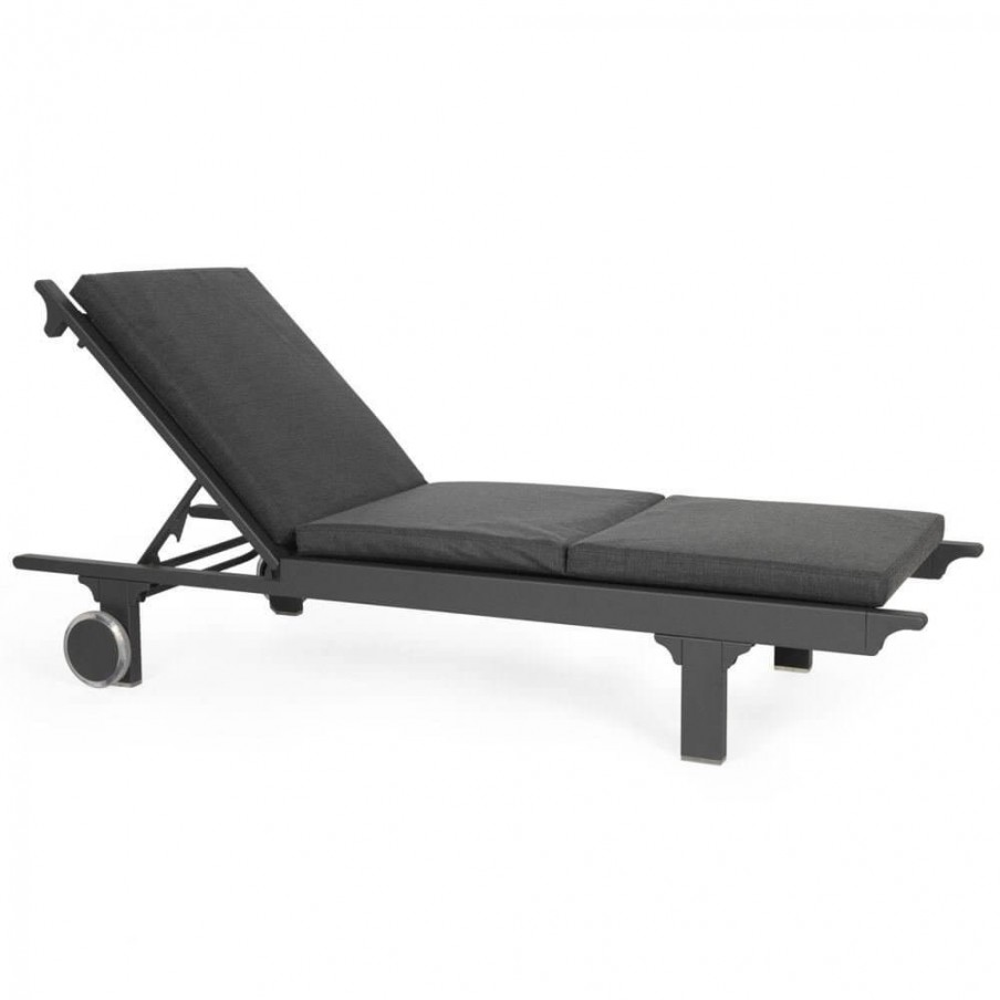 Maiori Design Classique Sun Lounger Aluminium Frame With Sling Cushions