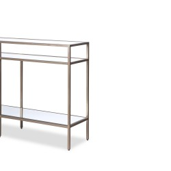 Liang & Eimil Oliver Glass Console Table - Antique Silver