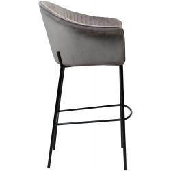 Dan-Form Kite Bar Stool in Grey Velvet