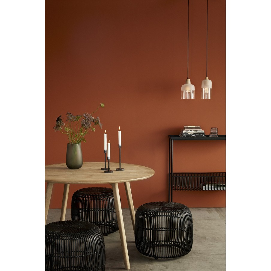 Hubsch Black Metal Console Table