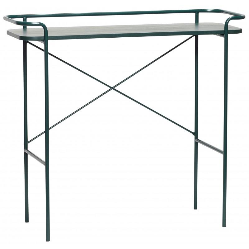 Hubsch Green Metal Console Table
