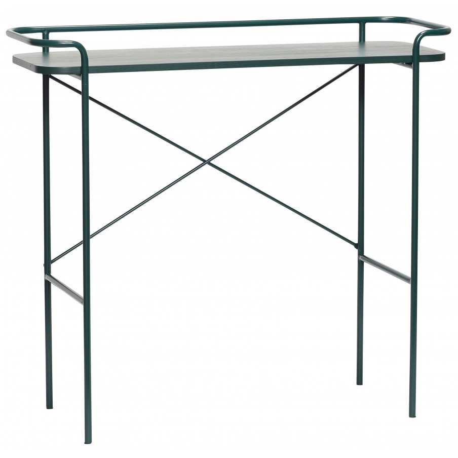 Hubsch Green Metal Console Table
