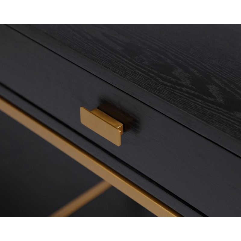 Liang & Eimil Levi Black Dressing Table - Brushed Brass Metal