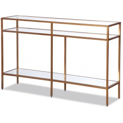 Liang & Eimil Oliver Glass Console Table - Antique Gold