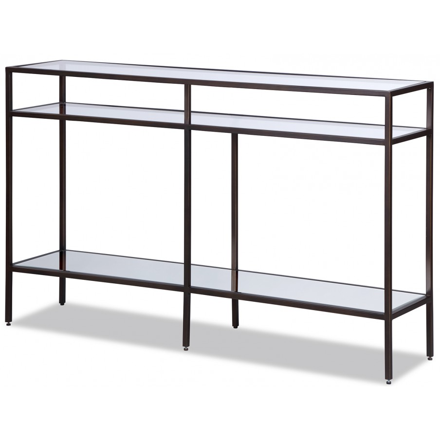 Liang & Eimil Oliver Glass Console Table - Antique Bronze